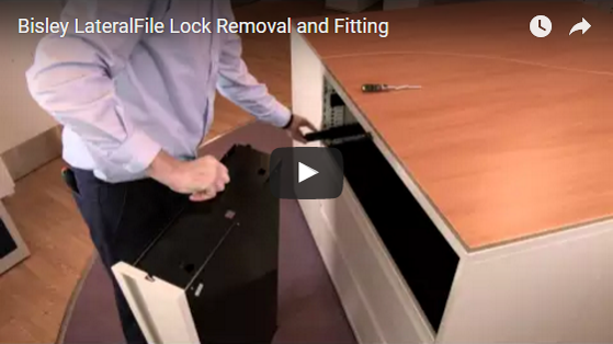 Bisley LateralFile Lock Removal an Fitting